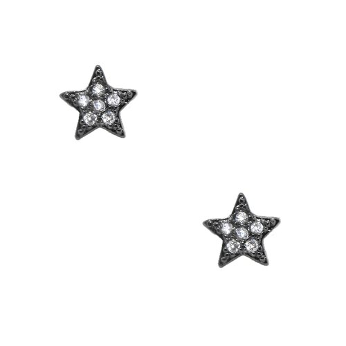 Star Shape Cubic Zirconia Stud Earring