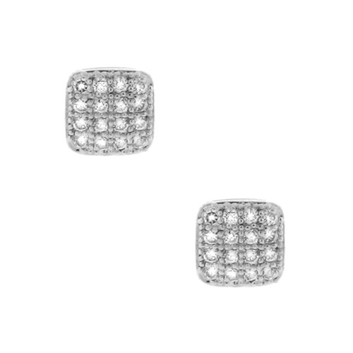 Square Cubic Zirconia Stud Earring