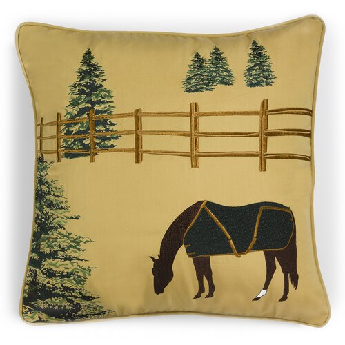 Rightside Design Abigail and Lily Equine Outdoor Sunbrella Winter Chill Horse Pillow