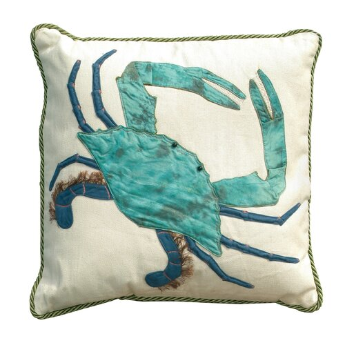 I Sea Life King of the Chesapeake Indoor Cotton Crab Pillow