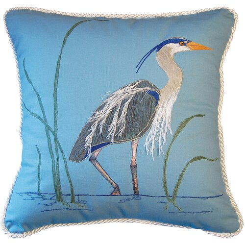 I Sea Life Great Heron Indoor Cotton Toss Pillow
