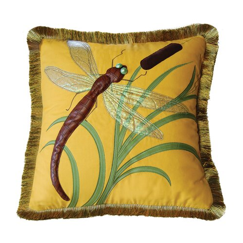 Rightside Design I Sea Life Dragonflies and Cattails Pillow
