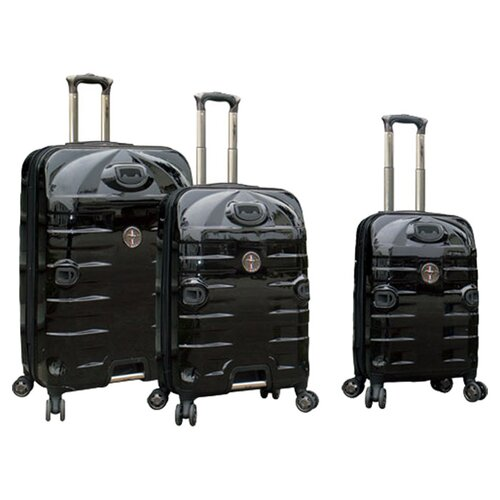 Travelers Polo & Racquet Club Mustang Series 3 Piece Luggage Set
