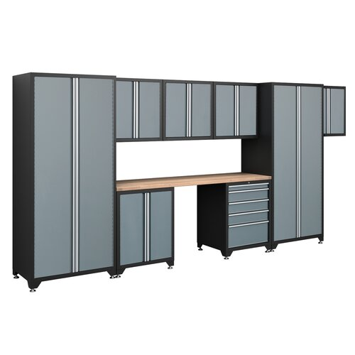 NewAge Products Pro Series 7' H x 15.5' W x 2' D 9-Piece Cabinet Set