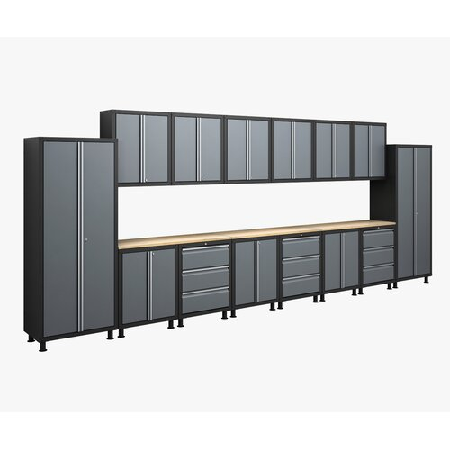NewAge Products RTA Series 6' H x 18' W x 1.5' D 17-Piece Cabinet Set