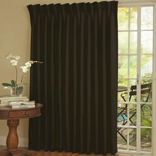 Eclipse Curtains Patio Door Rod Pocket Window Single