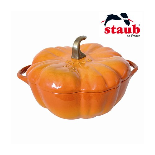 Staub 3.5 Qt. Cast Iron Pumpkin Dutch Oven