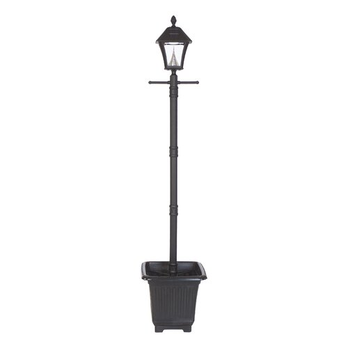 gama sonic baytown planter base solar lamp post and six. Black Bedroom Furniture Sets. Home Design Ideas