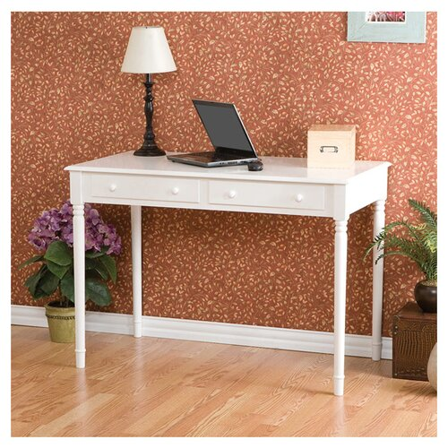 Wildon Home ® Hull Crisp White 2 Drawer Writing Desk