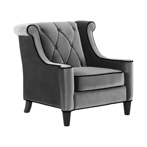 Colby Accent Chair Modern Contemporary Dusk Living Room: Armen Living Barrister Velvet Arm Chair & Reviews