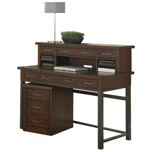 Home styles cabin creek writing desk ii with hutch - Hutch style computer desk ...