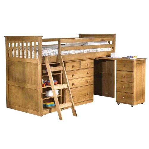 ... Living Cabin Single Mid Sleeper Bunk Bed & Reviews | Wayfair UK