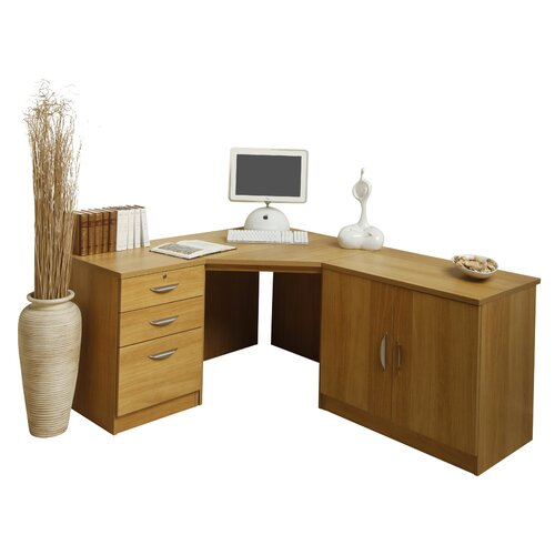home office solutions 1 drawer computer desk with printer
