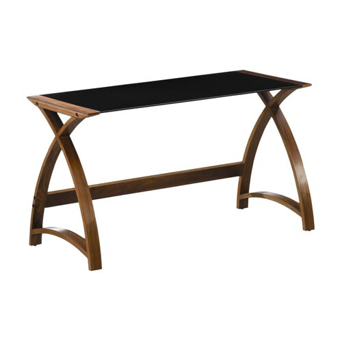 curved writing desk