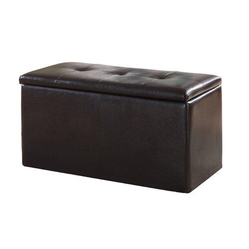 Modus Furniture Urban Seating Storage Bench Natural Linen: Modus Furniture Urban Leatherette Storage Bench With 2