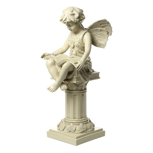 Design toscano the british reading fairy garden statue Reading fairy garden statue