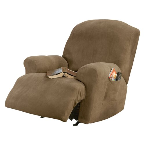 Sure fit stretch pique recliner t cushion slipcover for Sure fit stretch slipcovers clearance