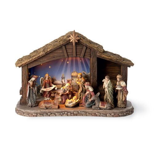 LED Star Bright Nativity Set