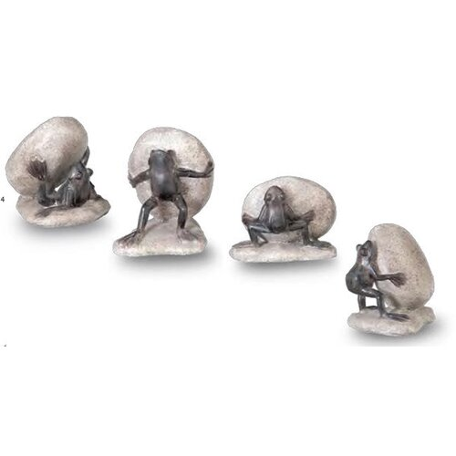 October Hill Frog Garden Accent Statues (Set of 4)