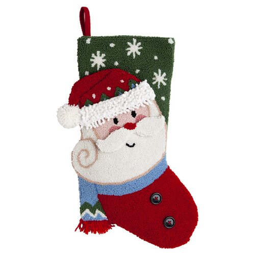 October Hill Santa 3D Hooked Stocking