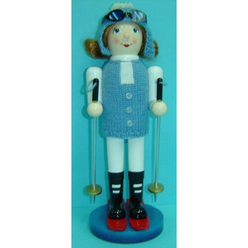 Girl Skier Nutcracker