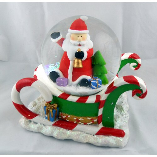 Horizons East Santa on Sleigh Musical Waterglobe