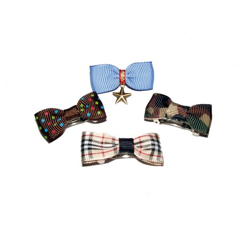 A Pet's World Four Boy Dog Hair Bow Barrettes
