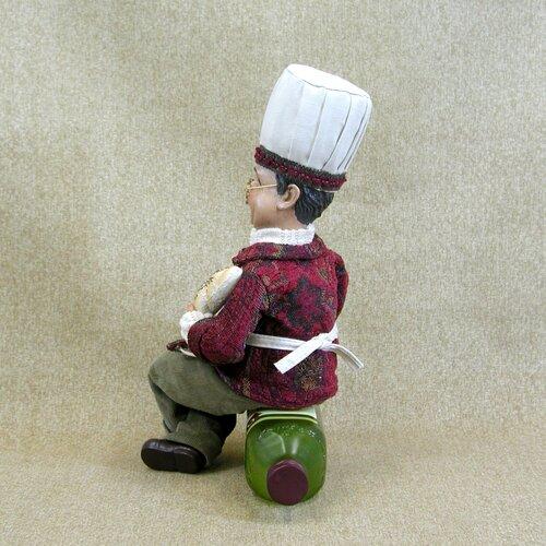 Karen Didion Originals Classic Home Chef on Oil Bottle Holder Figurine