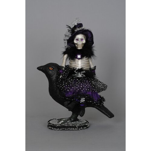 Karen Didion Originals Spooktacular Halloween Raven Witch Figurine