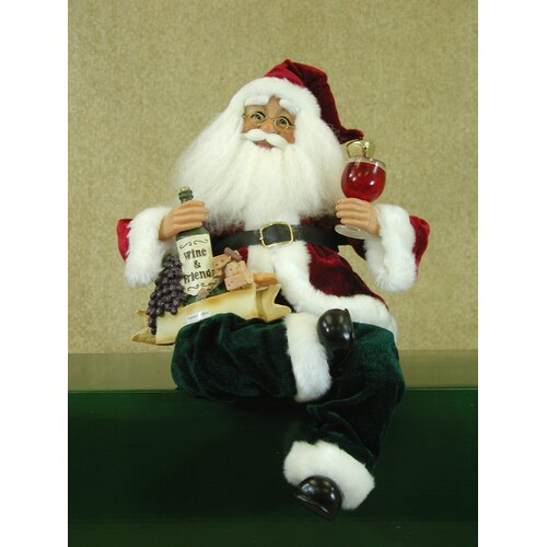 Karen Didion Originals Crakewood Wine Personalization Santa Claus Figurine