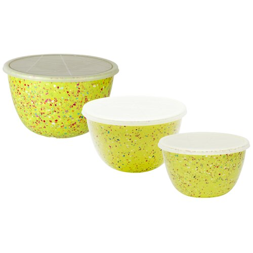 Confetti 6 Piece Bowl and Lid Set