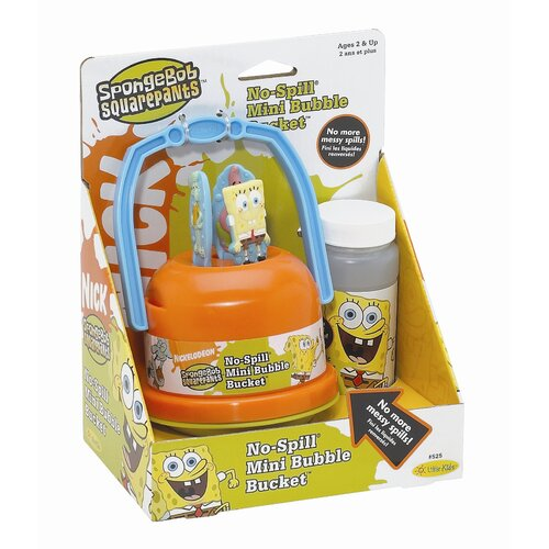 Little Kids Nickelodeon SpongeBob SquarePants No-Spill Bubble Bucket Pack