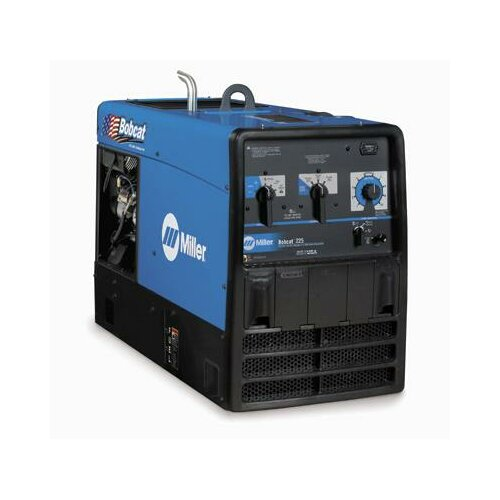 Miller Electric Mfg Co Bobcat 225 Generator Welder 225A with 23HP Subaru Engine and Standard Receptacles