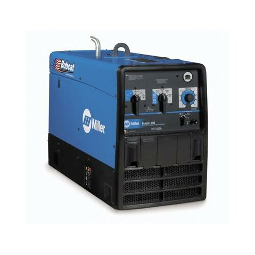 Miller Electric Mfg Co Bobcat 250 Generator Welder 250A with 23HP Subaru Engine, Electric Fuel Pump and Standard Receptacles