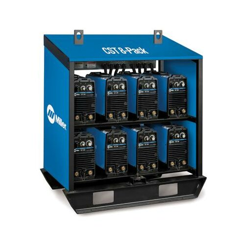 Miller Electric Mfg Co 280 and Maxstar 200 Rack 220-230V Multi-Process Welder with Eight CST Units Linked