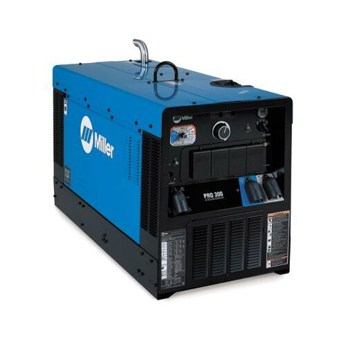 Miller Electric Mfg Co Pro 300 CC/CV Generator Welder 410A with 22HP Caterpillar Engine, Starting Aid and Appearance Package