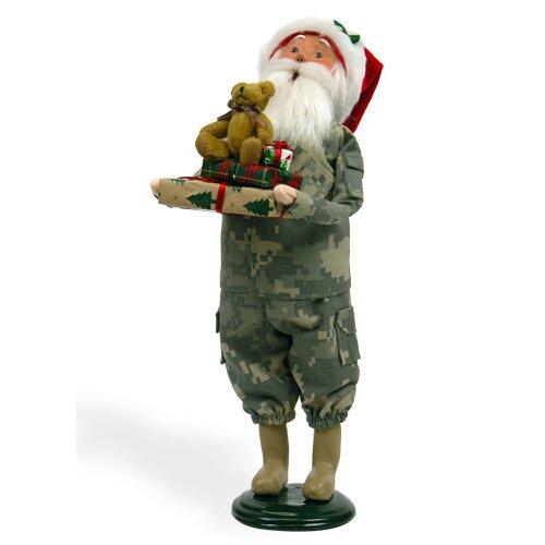 Camouflage Santa Figurine