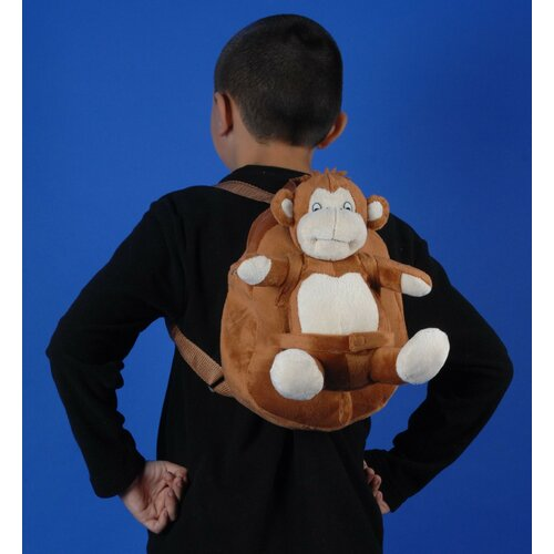 Small Plush Monkey Backpack