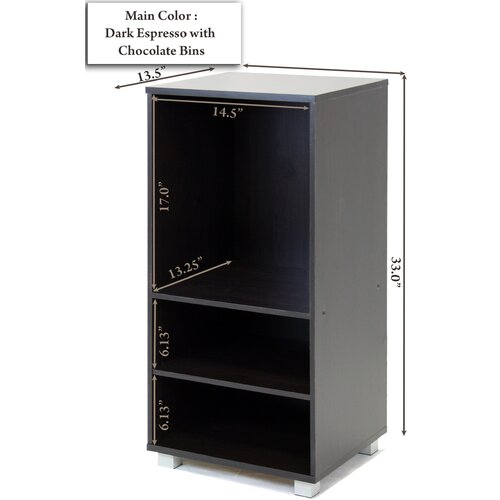 """Furinno 1000 Series 15.5"""" Bookcase"""