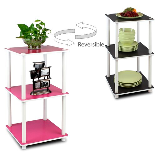 Furinno Turn 'n' Tube 3 Tier Corner Shelf
