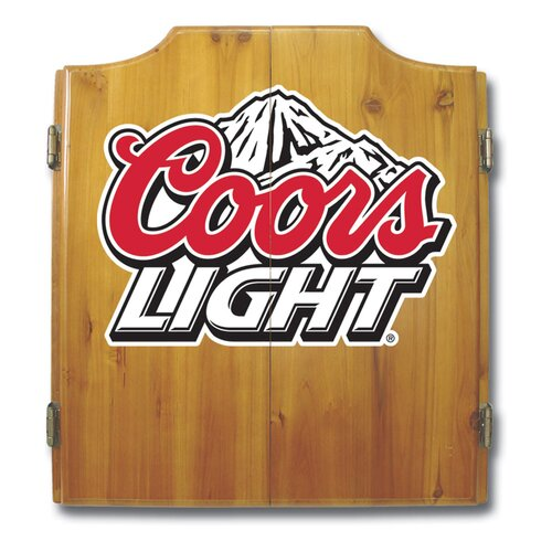 Trademark Global Coors Light Dart Cabinet Set