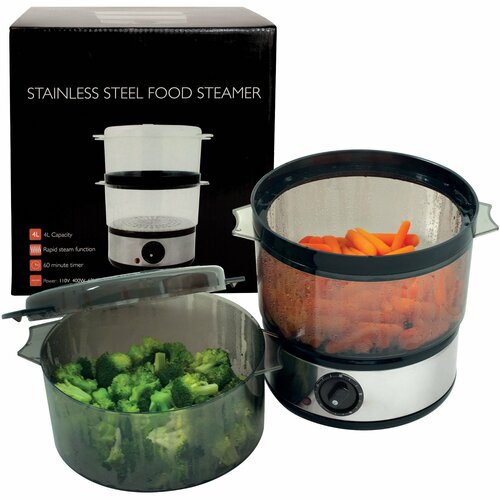 Trademark Global 4-Quart Food Steamer