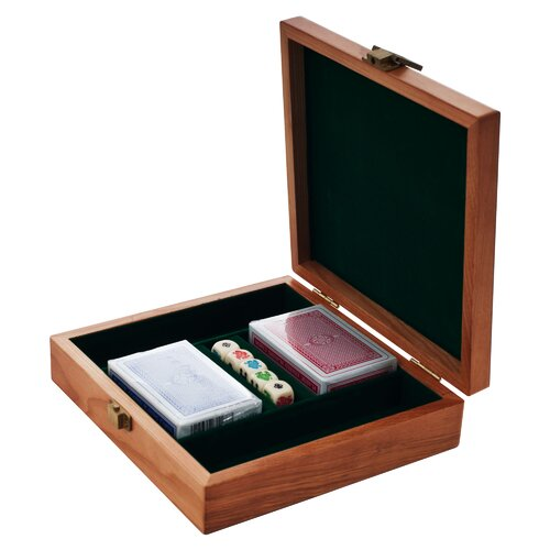 Trademark Global Poker Chip Case in Oak