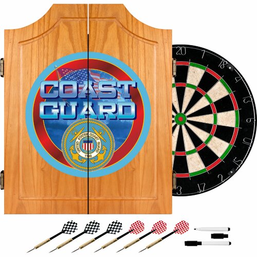 Trademark Global US Coast Guard Dart Cabinet Set