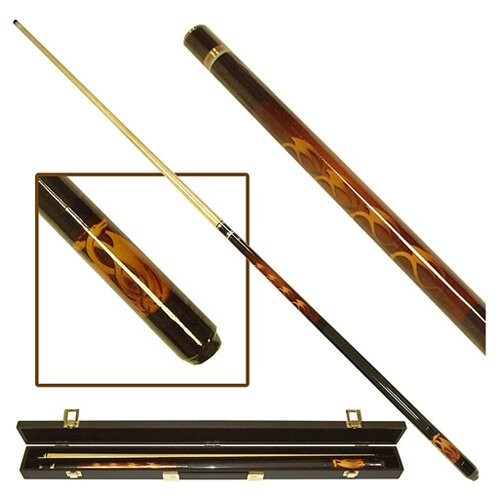 Trademark Global Fantasy Dragon Billiards Cue with Case