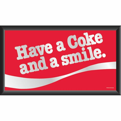 Trademark Global Coca Cola Have a Coke and A Smile Framed Vintage Advertisement