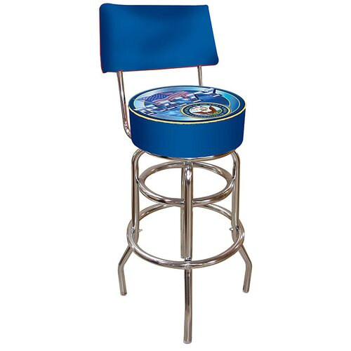 United States Navy Bar Stool with Cushion