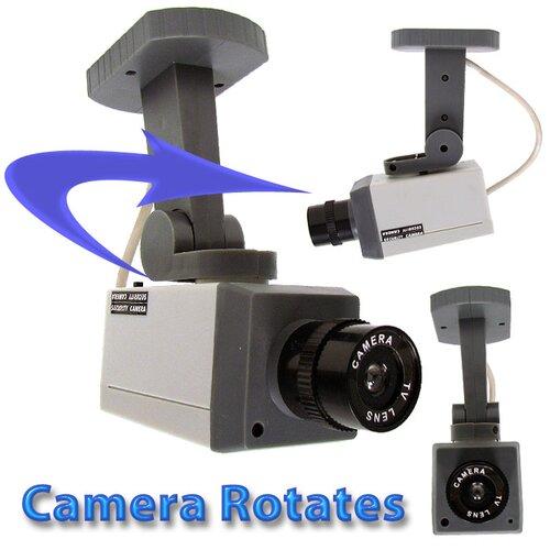 Trademark Global Rotating Imitation Security Camera with LED Light