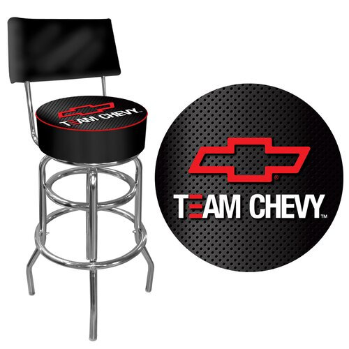 Trademark Global Team Chevy Racing Swivel Bar Stool with Cushion