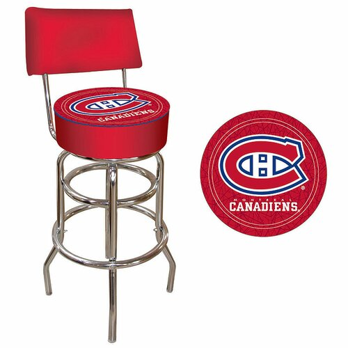 "Trademark Global NHL 7.5"" Swivel Bar Stool with Cushion"